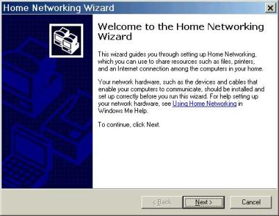 In order to set up ICS on the Gateway machine, run the ICS Networking Wizard ...